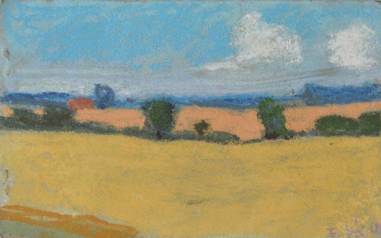 """Klaus Fußmann """"Landschaft bei Gelting"""" 1998"""