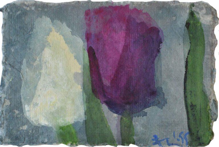 "Klaus Fußmann ""Tulpen Weiß / Lila"" 1995"